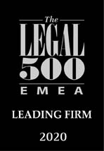 Leading firm Legal 500 2020